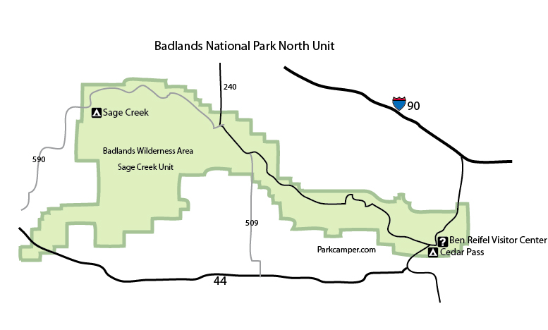 Badlands National Park Camping on map of north georgia campgrounds, map of north dakota casinos, map of north dakota airports,